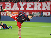 Mats Hummels warms up during the Champions League round of 16, leg 2 of 2 match between Bayern Munich and Liverpool at the Allianz Arena stadium, Munich, Germany on 13 March 2019.