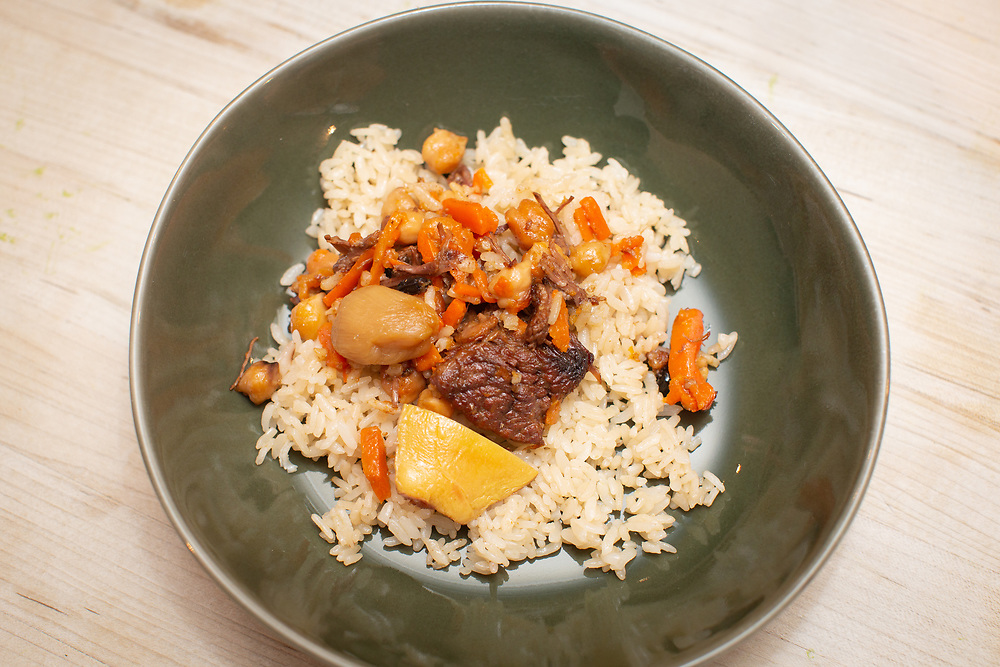 New York, NY - May 4, 2018:  The League of Kitchens Presents an Uzbek Feast by Chef Damira Inatullaeva at the James Beard House in Greenwich Village.<br /> <br /> CREDIT: Clay Williams for The James Beard Foundation.<br /> <br /> © Clay Williams / http://claywilliamsphoto.com