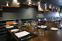 Interior of The Kitchin  78 Commercial Quay in Leith Edinburgh.