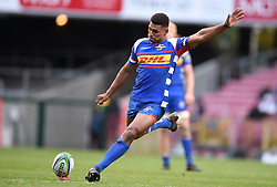 Cape Town-180427 Damian Willemse of Stomers kicks a penalty against Rebels  in a Super 15 match played at Newlands stadium.photograph:Phando Jikelo/African News Agency/ANA