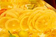 Vienna, Austria. The &quot;Steirereck&quot; with award winning Chef Heinz Reitbauer Junior is probably Vienna's best restaurant.<br /> Candied citrus fruits: Calamansi, Buddha's Hand etc.