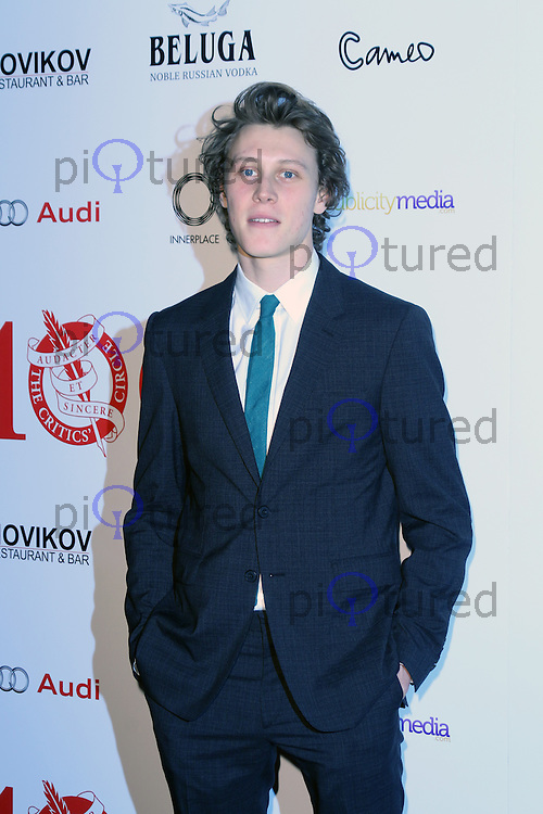 George MacKay, London Critics Circle Film Awards, May Fair Hotel, London UK, 02 February 2014, Photo by Richard Goldschmidt