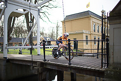 Anna van der Breggen (NED) of Boels-Dolmans Cycling Team starts Stage 1a of the Healthy Ageing Tour - a 16.9 km time trial, starting and finishing in Leek on April 5, 2017, in Groeningen, Netherlands.