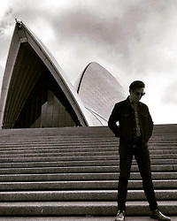 """Russell Crowe releases a photo on Twitter with the following caption: """"""""I'm playin' @SydOperaHouse for the third time this year today! What an honour it is to be at this incredible venue. Grab last minute tix https://t.co/jGaaJyFqzE #WHITEALBUM #Beatles"""""""". Photo Credit: Twitter *** No USA Distribution *** For Editorial Use Only *** Not to be Published in Books or Photo Books ***  Please note: Fees charged by the agency are for the agency's services only, and do not, nor are they intended to, convey to the user any ownership of Copyright or License in the material. The agency does not claim any ownership including but not limited to Copyright or License in the attached material. By publishing this material you expressly agree to indemnify and to hold the agency and its directors, shareholders and employees harmless from any loss, claims, damages, demands, expenses (including legal fees), or any causes of action or allegation against the agency arising out of or connected in any way with publication of the material."""