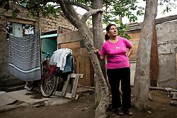 Luisa Esther Jacobo Castro, on her home in Calle Callao in El Ayllu