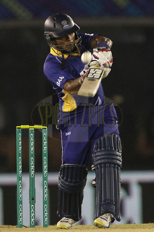 Dilshan MUNAWEERA of the Barbados Tridents  during match 5 of the Oppo Champions League Twenty20 between the Kings XI Punjab and the Barbados Tridents held at the Punjab Cricket Association Stadium, Mohali, India on the 20th September 2014<br /> <br /> Photo by:  Ron Gaunt / Sportzpics/ CLT20<br /> <br /> <br /> Image use is subject to the terms and conditions as laid out by the BCCI/ CLT20.  The terms and conditions can be downloaded here:<br /> <br /> http://sportzpics.photoshelter.com/gallery/CLT20-Image-Terms-and-Conditions-2014/G0000IfNJn535VPU/C0000QhhKadWcjYs