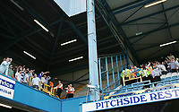 Photo: Lee Earle.<br /> Queens Park Rangers v Cardiff City. Coca Cola Championship. 21/04/2007.The stewards move in after both sets of supporters hurl abuse at each other at the end of the game.