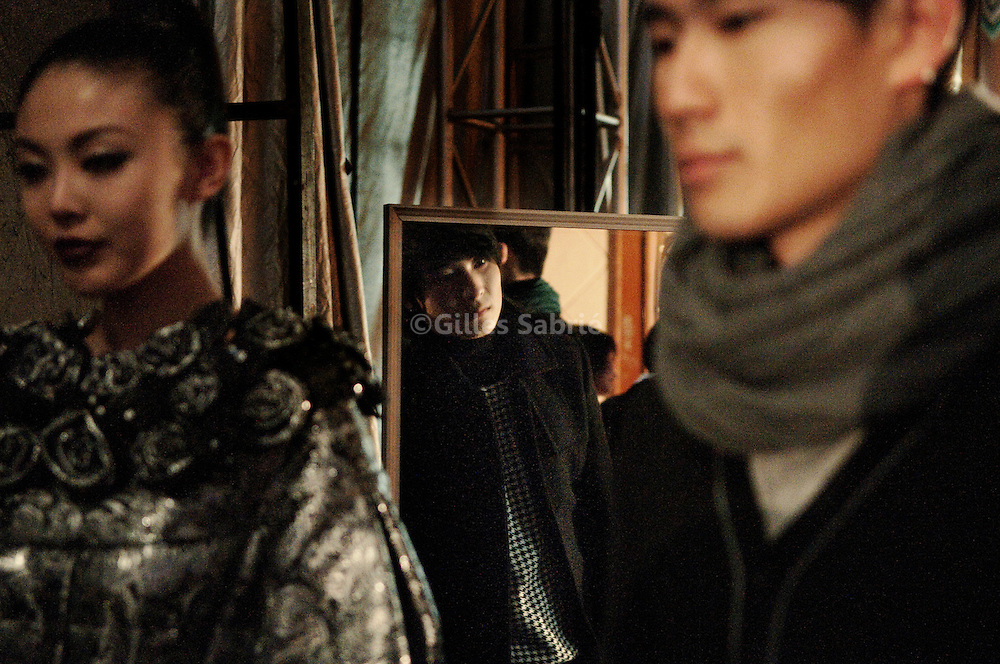 Backstage, at the Bosoeng pret-a-porter winter 09-10 collection, fashion show.