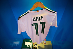 NANNING, CHINA - Thursday, March 22, 2018: The shirt of Gareth Bale in the Wales dressing room during the opening match of the 2018 Gree China Cup International Football Championship between China and Wales at the Guangxi Sports Centre. (Pic by David Rawcliffe/Propaganda)