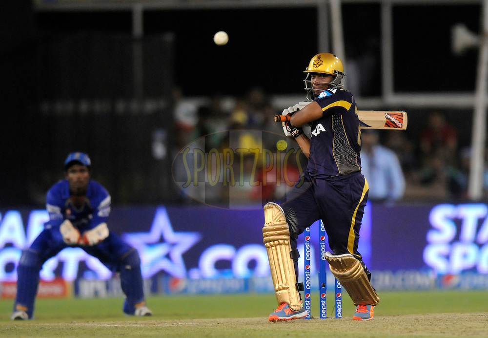 Shakib Al Hasan of the Kolkata Knight Riders bats during match 25 of the Pepsi Indian Premier League Season 2014 between the Rajasthan Royals and the Kolkata Knight Riders held at the Sardar Patel Stadium, Ahmedabad, India on the 5th May  2014<br /> <br /> Photo by Pal Pillai / IPL / SPORTZPICS      <br /> <br /> <br /> <br /> Image use subject to terms and conditions which can be found here:  http://sportzpics.photoshelter.com/gallery/Pepsi-IPL-Image-terms-and-conditions/G00004VW1IVJ.gB0/C0000TScjhBM6ikg