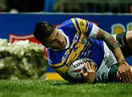 Tom Briscoe of Leeds Rhinos scores the 2nd try against Hull FC during the Betfred Super League match at Emerald Headingley Stadium, Leeds<br /> Picture by Stephen Gaunt/Focus Images Ltd +447904 833202<br /> 08/03/2018