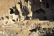 Rock Formations, Cliff Dwellings, Bandelier National Monument, New Mexico