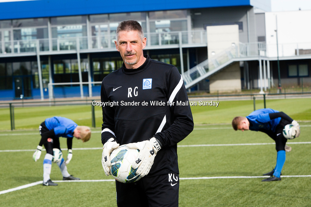 Goalkeeping coach Gilbert Roux working at KRC Genk, who coached Thibaut Courtois who is a goalkeeper for Atletico Madrid, on loan from Chelsea