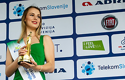 Hostess Eugenija Janjos at trophy ceremony after the 4th Stage of 26th Tour of Slovenia 2019 cycling race between Nova Gorica and Ajdovscina (153,9 km), on June 22, 2019 in Slovenia. Photo by Vid Ponikvar / Sportida