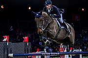HONG KONG - FEBRUARY 20:  Daniel Deusser of Germany rides Hidalgo V. during the Airbus Trophy as part of the 2016 Longines Masters of Hong Kong on February 20, 2016 in Hong Kong, Hong Kong.  (Photo by Aitor Alcalde Colomer/Getty Images)