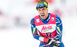 21.02.2016, Salpausselkae Stadion, Lahti, FIN, FIS Weltcup Nordische Kombination, Lahti, Langlauf, im Bild Maxime Laheurte (FRA) // Maxime Laheurte of France reacts during Cross Country Gundersen Race of FIS Nordic Combined World Cup, Lahti Ski Games at the Salpausselkae Stadium in Lahti, Finland on 2016/02/21. EXPA Pictures © 2016, PhotoCredit: EXPA/ JFK