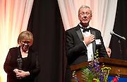 Tom and Camilla Tilford accept the 2012 Ignatian Spirit Award, Photo by Austin Ilg