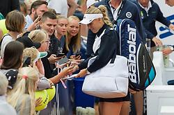 Caroline Wozniacki (Denmark) at the 2017 WTA Ericsson Open in Båstad, Sweden, July 27, 2017. Photo Credit: Katja Boll/EVENTMEDIA.