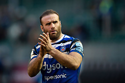 Jamie Roberts of Bath Rugby acknowledges the crowd after the match - Mandatory byline: Patrick Khachfe/JMP - 07966 386802 - 16/02/2019 - RUGBY UNION - The Recreation Ground - Bath, England - Bath Rugby v Newcastle Falcons - Gallagher Premiership Rugby