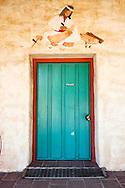 Native American Mural Above Doorway at Mission San Antonio de Padua, Monterey County, California