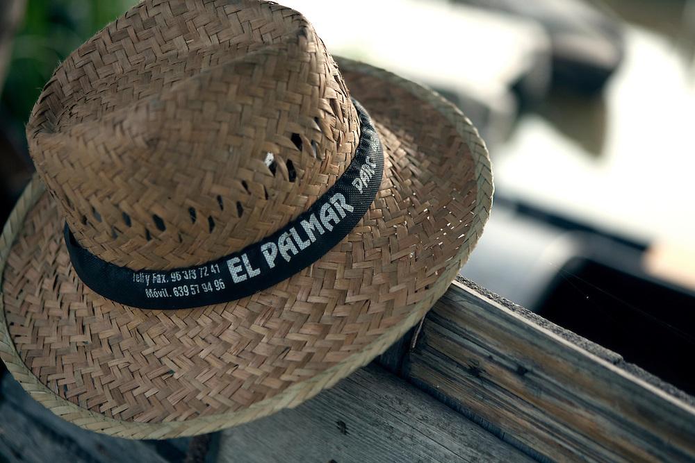 Fisherman hat at La Albufera National Park, in Valencia, Spain.