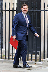 © Licensed to London News Pictures. 10/09/2019. London, UK. Secretary of State for Housing & Communities ROBERT JENRICK arrives in Downing Street to attending the weekly Cabinet Meeting. Photo credit: Dinendra Haria/LNP
