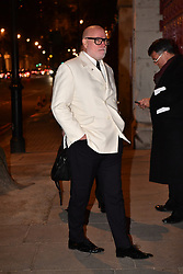 © Licensed to London News Pictures. 07/02/2018. London, UK. GARY GOLDSMITH. Arrivals at the Natural History Museum in London for the annual Black and White Ball, a fundraiser held by the Conservative Party. Photo credit: Ben Cawthra/LNP