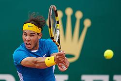 MONTE-CARLO, MONACO - Saturday, April 17, 2010: Rafael Nadal (ESP) during the Men's Singles Semi-Final on day six of the ATP Masters Series Monte-Carlo at the Monte-Carlo Country Club. (Photo by David Rawcliffe/Propaganda)