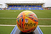 A general view of the stadium with the match ball in the foreground before the EFL Sky Bet League 1 match between Peterborough United and Rochdale at London Road, Peterborough, England on 12 January 2019.