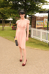 MICHELE HICKS at the third day of the 2010 Glorious Goodwood racing festival at Goodwood Racecourse, Chichester, West Sussex on 29th July 2010.