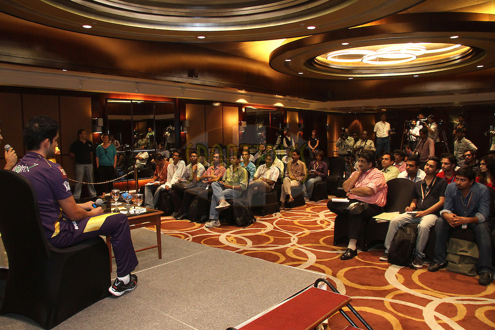 GV during the pre final press conference held at the ITC Sheraton Park Hotel, Chennai on the 26th May 2012..Photo by Shaun Roy/IPL/SPORTZPICS