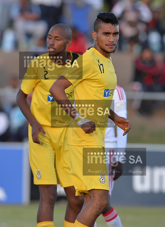 CAPE TOWN, SOUTH AFRICA - Wednesday 23 March 2016, Adeeb Triegaardt of Milano United during the match between Ajax Cape Town v Milano United during the first day of the Metropolitan U19 Premier Cup at Erica Park in Belhar. T<br /> Photo by Roger Sedres/ImageSA