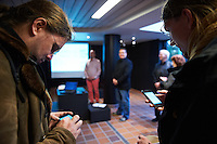 "Members of the German Piraten Partei at a offical opening of a new website for idea ""Better Reykjavik""."