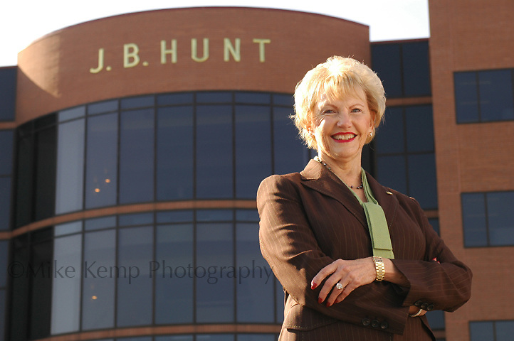 Johnelle Hunt, co-founder of J.B. Hunt Transport Services, is listed as one the 400 richest Americans by Forbes.