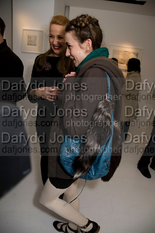 JERRY HALL; ELIZABETH JAGGER, Elaine Ferguson. ' Texas Blues'. Scream Gallery. Bruton St. London. 11 December 2008 *** Local Caption *** -DO NOT ARCHIVE -Copyright Photograph by Dafydd Jones. 248 Clapham Rd. London SW9 0PZ. Tel 0207 820 0771. www.dafjones.com<br /> JERRY HALL; ELIZABETH JAGGER, Elaine Ferguson. ' Texas Blues'. Scream Gallery. Bruton St. London. 11 December 2008