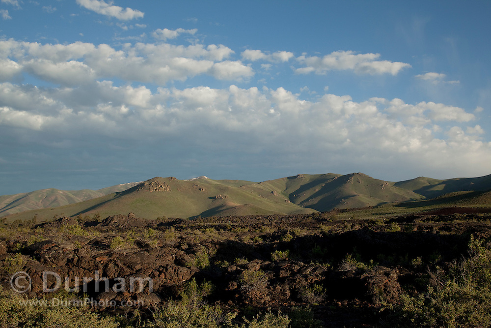 Ancient volcanic flows in Craters of the Moon National Monument, Idaho.