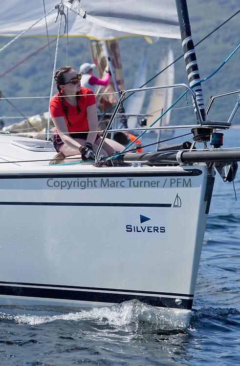 Silvers Marine Scottish Series 2017<br /> Tarbert Loch Fyne - Sailing<br /> GBR9044TC, Polaris, Ian Maclachlan, CCC, Dehler36