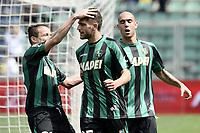esultanza gol Domenico Berardi<br /> Reggio Emilia 19-04-2015 Mapei Stadium, Football /Campionato di calcio serie A / Sassuolo-Torino / Foto Image Sport / Insidefoto