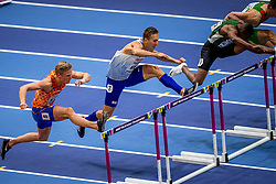 04-03-2018 GBR: World Indoor Championships Athletics day 4, Birmingham<br /> Koen Smet NED, 60 Metres Hurdles wordt vierde in zijn serie van de halve finale WK Indoor.
