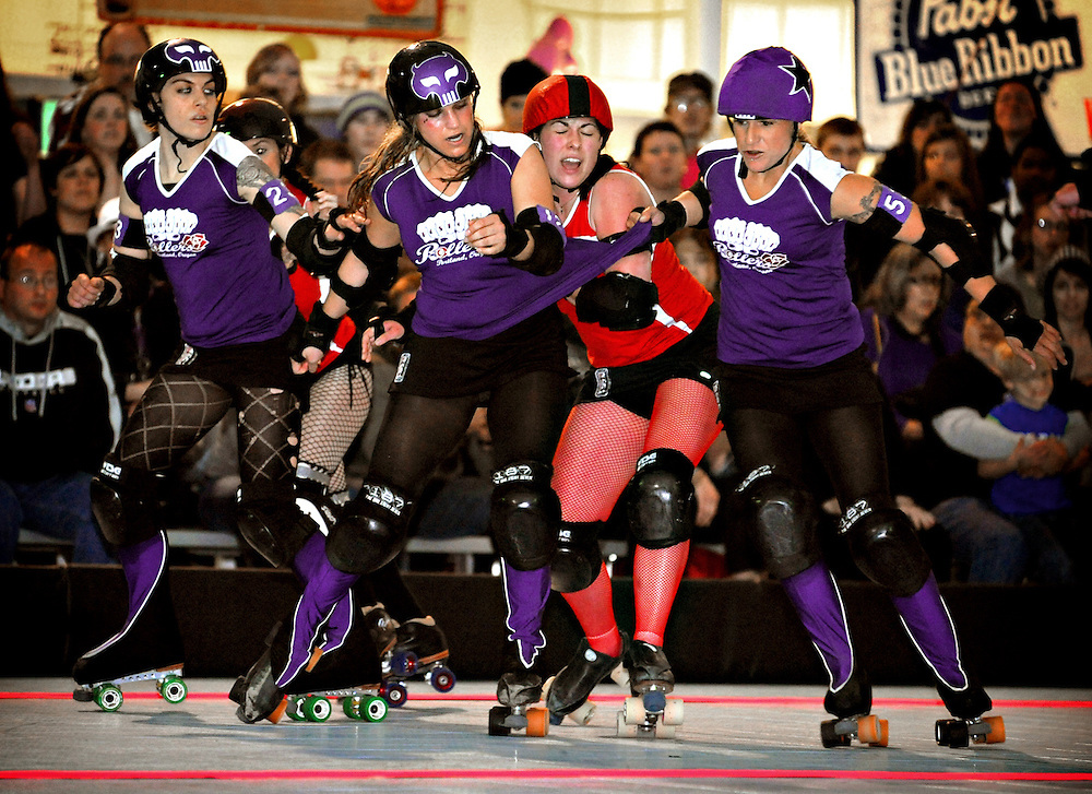 Rocky Mountain versus Rose City Rollers on May 21, 2010. (Photo by Casey Campbell)