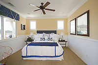 Nautical themed bedroom of Palm Springs home