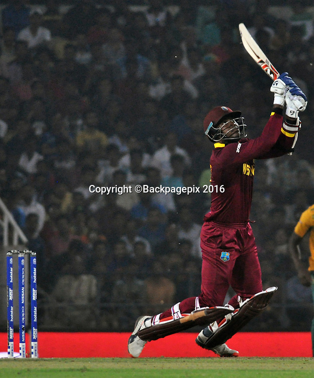 Darren Sammy of West Indies during the 2016 ICC World T20 cricket match between South Africa and West Indies at Vidharbha Cricket Association, Jamtha, India on 25 March 2016 ©BackpagePix