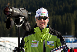 Head coach Uros Velepec at practice session during Media day of Slovenian biathlon team on November 12, 2010 at Rudno polje, Pokljuka, Slovenia. (Photo By Vid Ponikvar / Sportida.com)