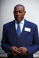 © Licensed to London News Pictures. 10/10/2014. LONDON, UK. Frank Bruno attending to Deputy Prime Minister Nick Clegg's reception for World Mental Health day on Friday, 10 October 2014 at Admiralty House in central London. Photo credit : Tolga Akmen/LNP