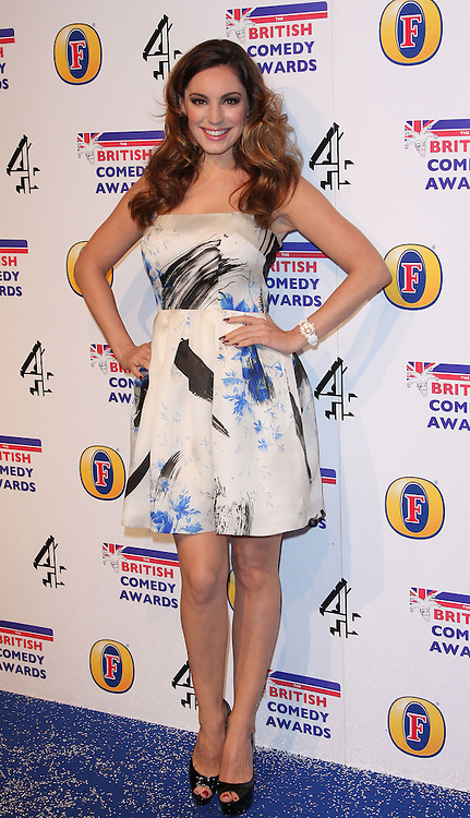 KELLY BROOK attends the British Comedy Awards at Fountain Studios, London, England, December 12, 2012. Photo by i-Images.