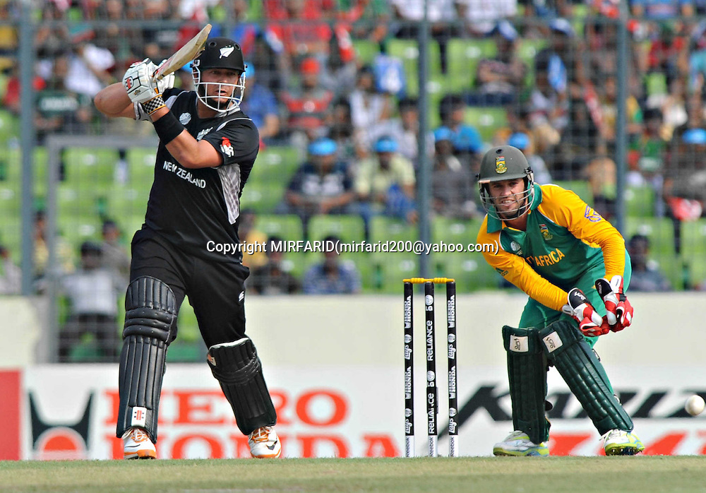 Jesse Ryder of New Zealand during the ICC Cricket World Cup quarter final match between South Africa and New Zealand held at the Shere Bangla National Stadium, Mirpur, Bangladesh on the 25 March 2011<br />