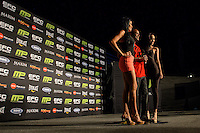 Hexagon girls with Shane Wellington during EFC Africa 26 Weigh-in, 11 December  2013, The Dome, Johannesburg.