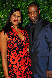 Lolita Chakrabarti and Adrian Lester attends the 58th London Evening Standard Theatre Awards in association with Burberry, London, UK, November 25, 2012. Photo by Chris Joseph / i-Images.