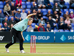 Surrey's Rikki Clarke in action today <br /> <br /> Photographer Simon King/Replay Images<br /> <br /> Vitality Blast T20 - Round 14 - Glamorgan v Surrey - Friday 17th August 2018 - Sophia Gardens - Cardiff<br /> <br /> World Copyright © Replay Images . All rights reserved. info@replayimages.co.uk - http://replayimages.co.uk