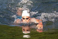 07.07.2019, Klagenfurt, AUT, Ironman Austria, Schwimmen, im Bild Daniel Bækkegard (DAN) // Daniel Bækkegard (DAN) during the swimming competition of the Ironman Austria in Klagenfurt, Austria on 2019/07/07. EXPA Pictures © 2019, PhotoCredit: EXPA/ Johann Groder